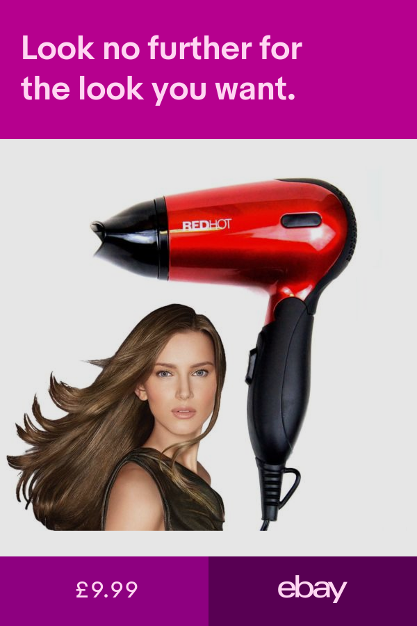 Red Hot Professional Style Hair Dryer Hairdryer With Concentrator Nozzle In 2020 Professional Fashion Hair Dryer Red Hot