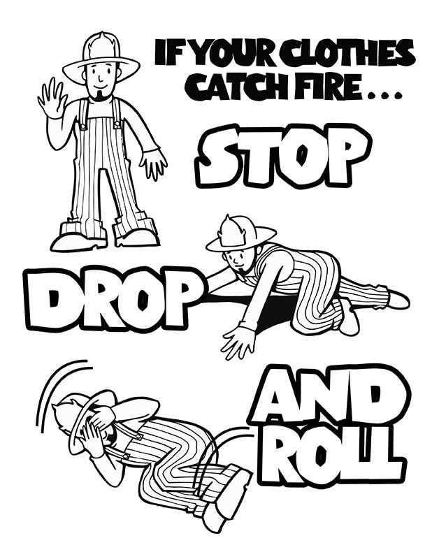 childrens fire safety coloring pages - photo#10