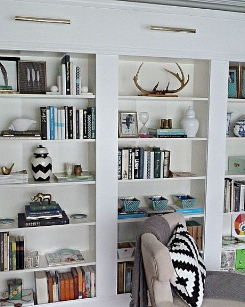 You Can Make A Bunch Of Billy Bookcases Look Like Real Built In It Won T Be
