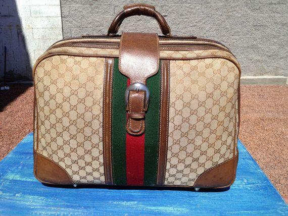 e922a45ca5a Vintage 70s Rare Gucci carry on overnight bag