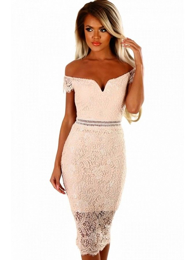 Women/'s Cut Out Jewelled Mesh Trim V Neck Ladies Midi Knee Bodycon Dress