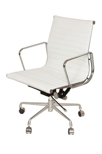 office chair genuine leather white. white genuine leather executive office chair by control brand on hautelook i