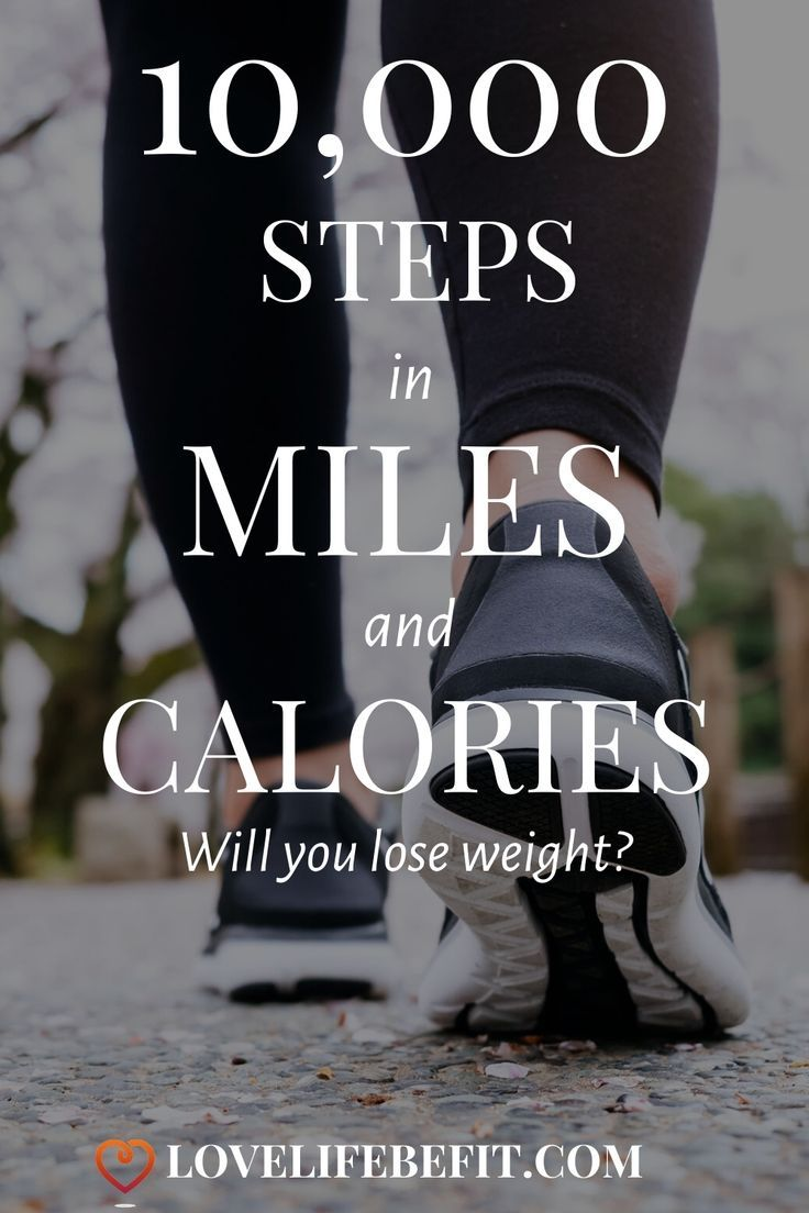 How Much Is 10,000 Steps In Miles And Calories Burned? in ...