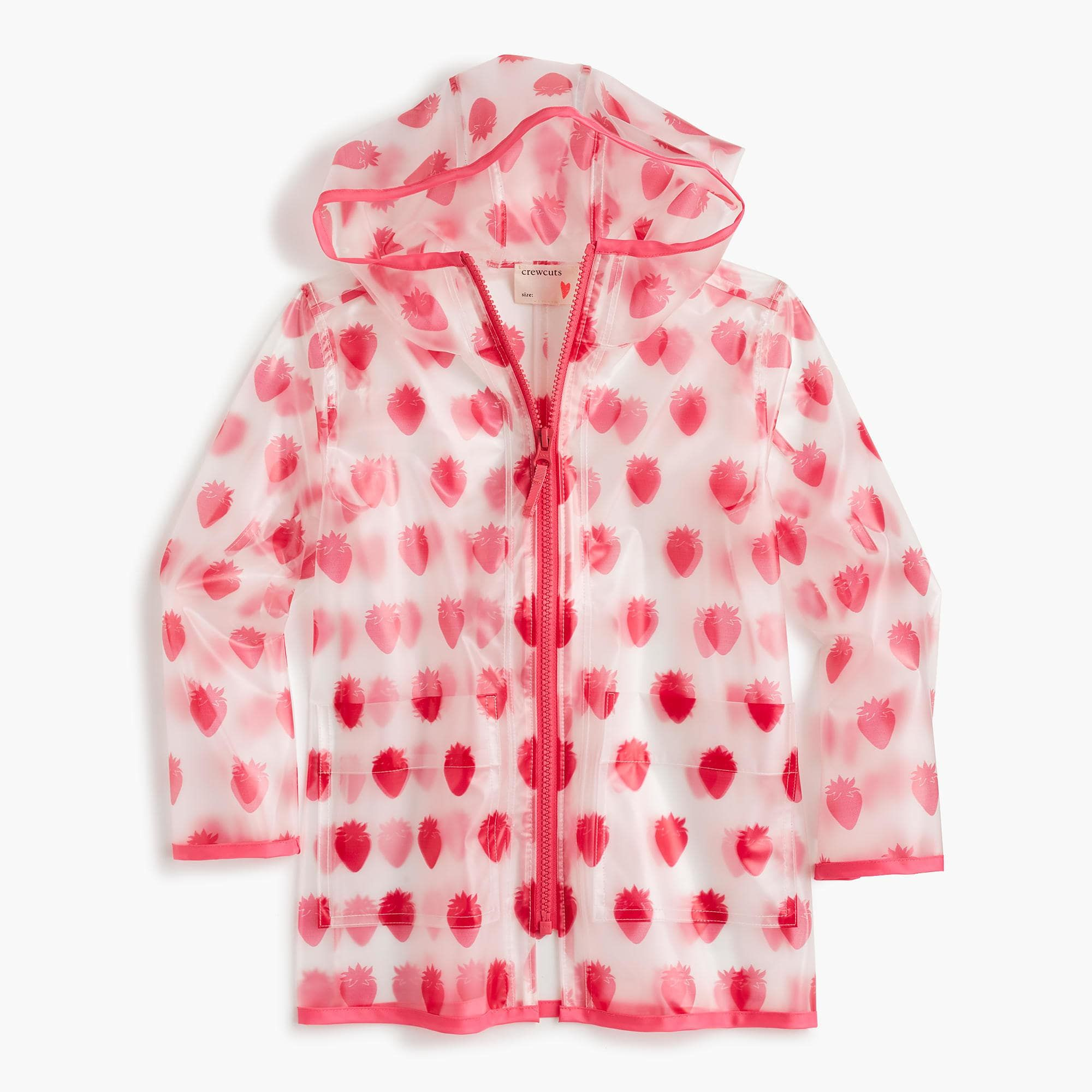 69fcd0d34f35 J.Crew - Kids  rain jacket in coral print