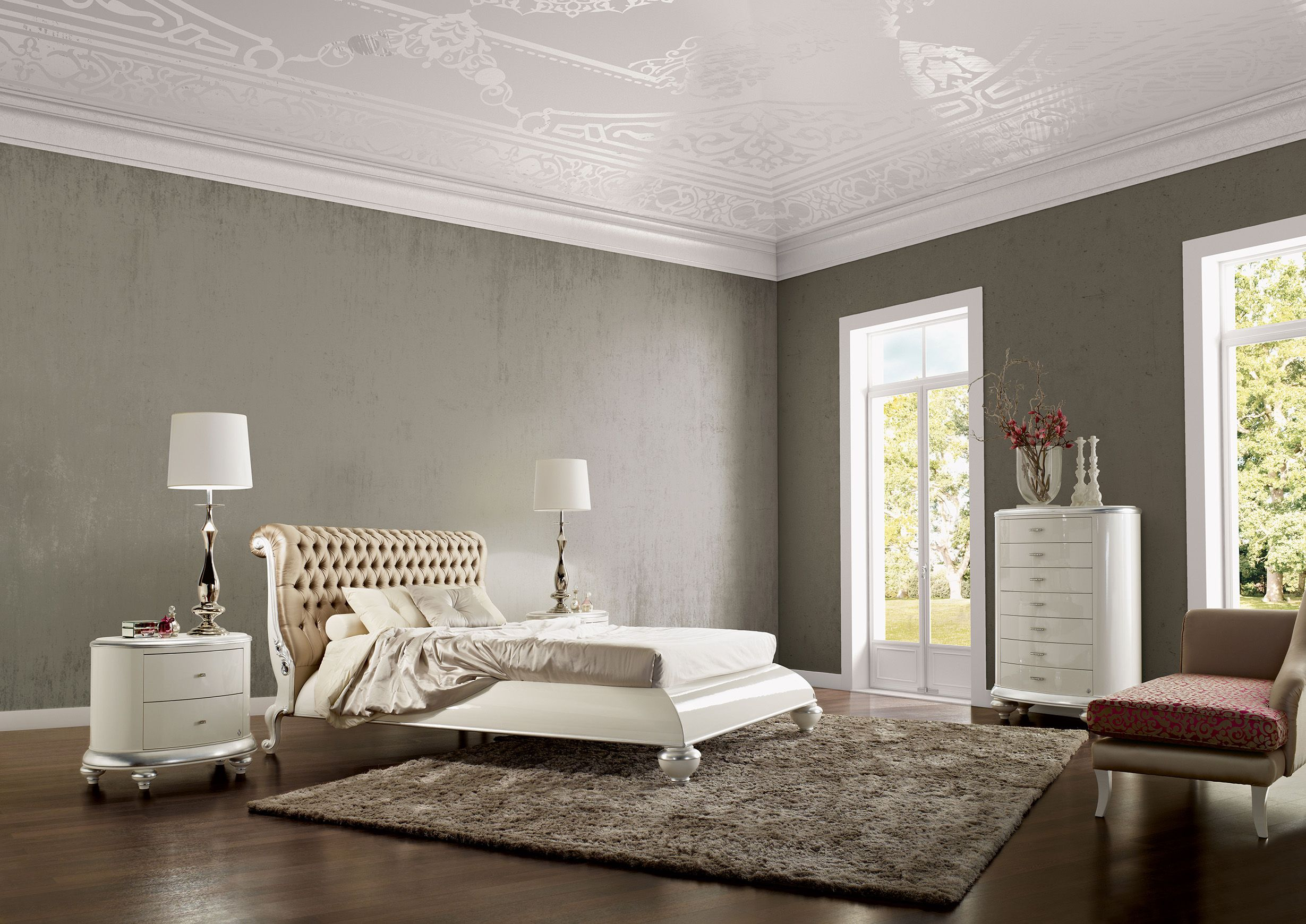 Luxury Interior Design Bedroom Venezia Buttoned Bed Jetclass Real Furniture Luxury Interior