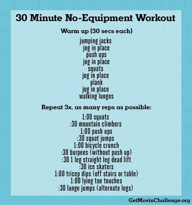Pin by Kaci Lesley on fitness | 30 Minute Workout, No ...