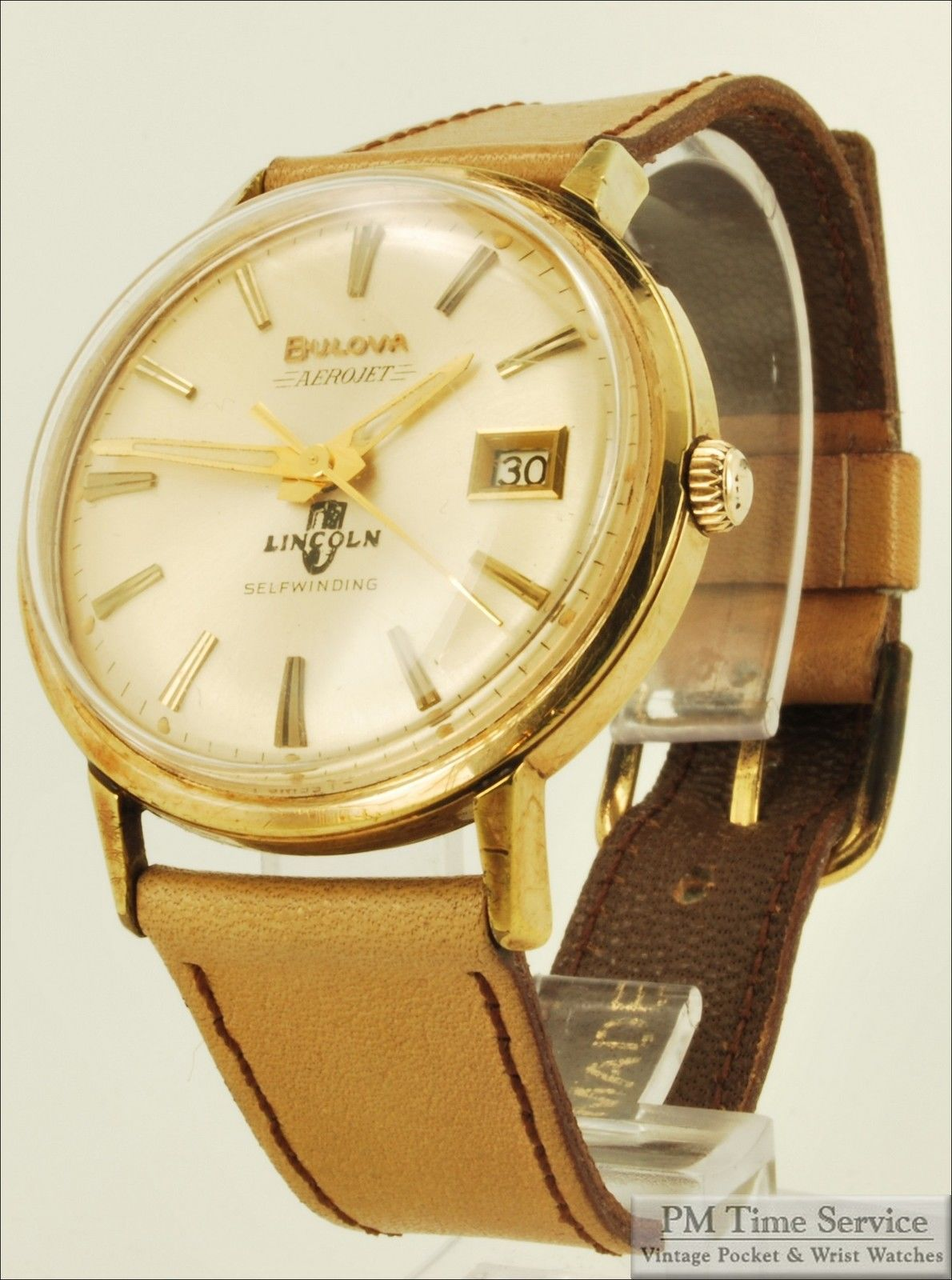 bulova watches old fashion stock new pin gold watch quartz mens octagon face tone accutron vintage