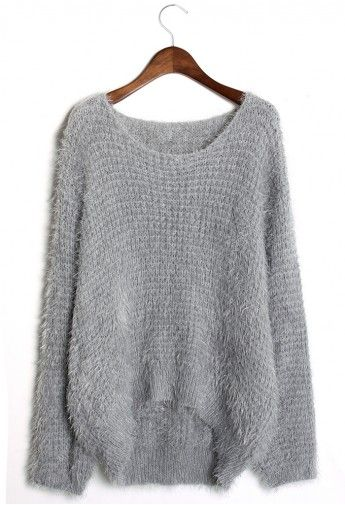 Fluffy Waffle Sweater in Grey | FOR THE CLOSET | Pinterest ...