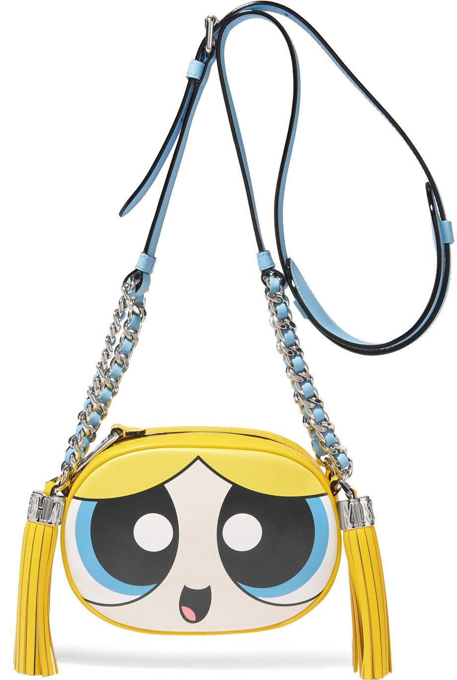ada42f9d2a3 Moschino Powerpuff Girls Bubbles Women's Shoulder Crossbody Leather Bag  │Represented by Chiara Ferragni, Paris Hilton