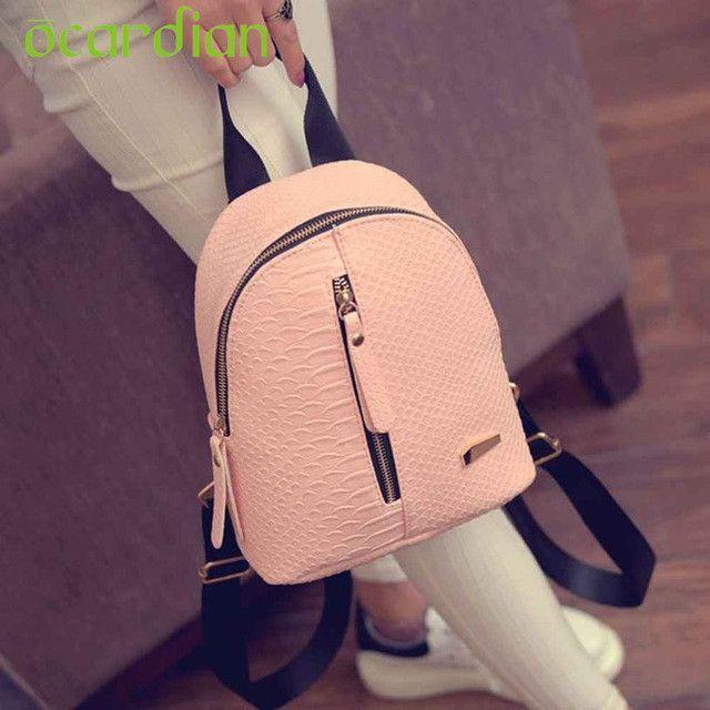 6a4b3c3449 Backpacks Schoolbags Ocardian Elegance New Hot Women Leather Travel  Shoulder Bag Mochila 17Apr26 Dropshipping