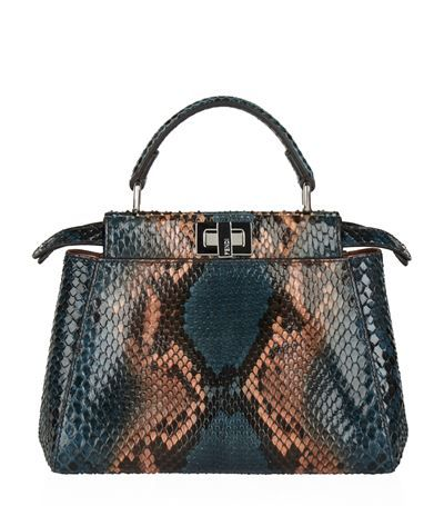 d3a8c6c7c6b7 FENDI Mini Peekaboo Python Top Handle Bag.  fendi  bags  shoulder bags   hand bags  leather