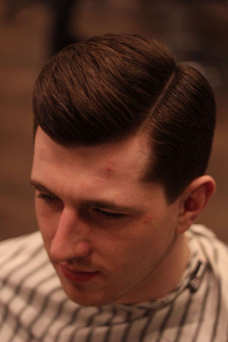 Classic side parting hart barbering pinterest mens hair