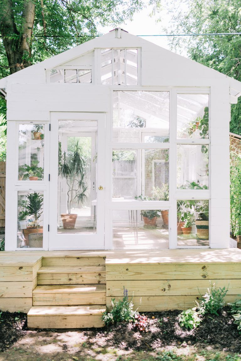 How To Build A Greenhouse A Beautiful Mess Build A Greenhouse Backyard Greenhouse Backyard