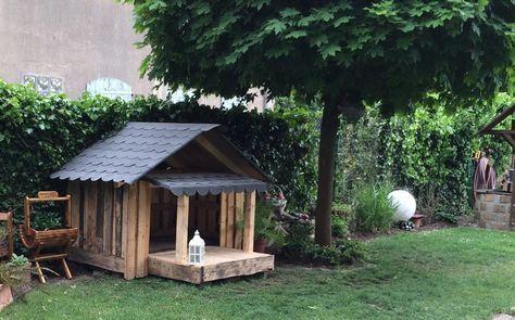 Hundehütte aus Einwegpaletten Bauanleitung zum selber bauen ...