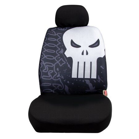 Pleasant Marvel Punisher Low Back Seat Cover With Headrest Cover Unemploymentrelief Wooden Chair Designs For Living Room Unemploymentrelieforg