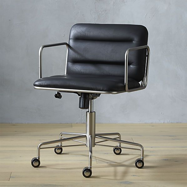 Mad Office Chair 24 5 Wx23 75 Dx29 75 H Tailored In Faux Black
