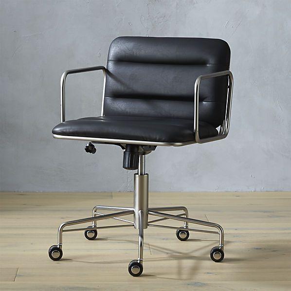 Leather Desk Chair Black