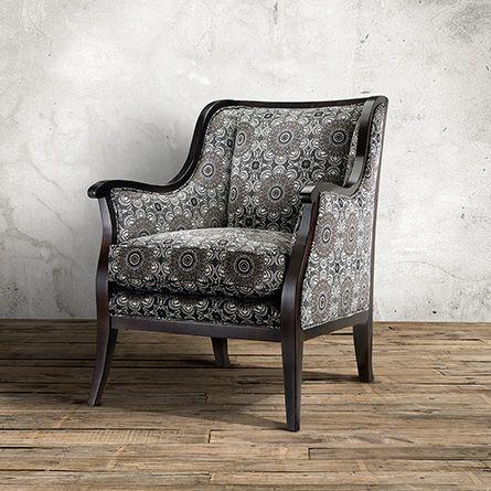 Perrin Upholstered Chair In 2203 Fog   Arhaus Furniture