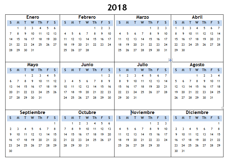 Weekly Calendar In Spanish : Spanish calendar printable calendars