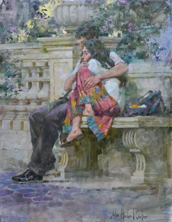 Couple in a Roman Garden