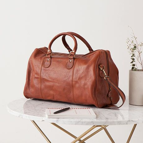 d3bbbf4b4819a Duffel Bag - Brown Leather - by I Medici  MONOQI