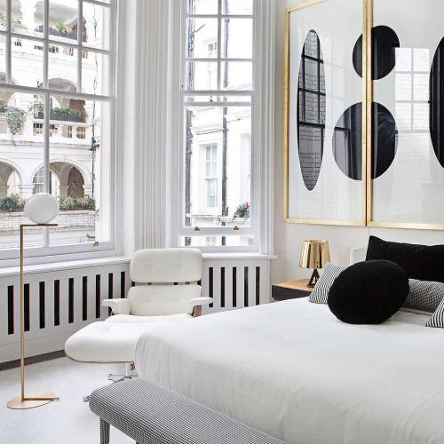 Black White Gold Modern Bedroom Decor Home Decor Bedroom