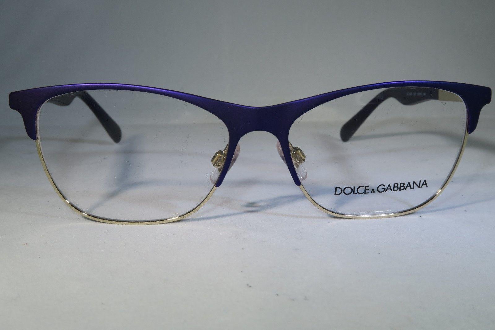 Dolce Gabbana DG 1246 1222 Purple Gold New Eyeglasses 53mm 15mm ...