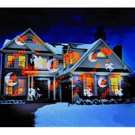 As Seen On Tv Spooky Halloween Decoration Lights Star Shower Slide