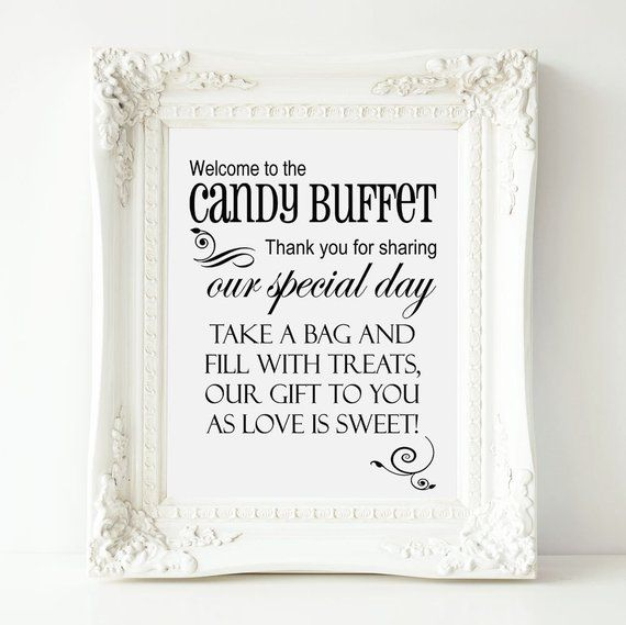 Astounding Welcome To The Candy Buffet Printable Wedding Sign Sweets Interior Design Ideas Tzicisoteloinfo