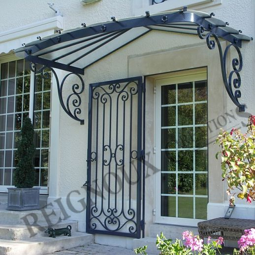 Portes d\u0027entrée fer forgé - Ferronerie d\u0027art - Maison fondée en 1955 - Peinture Porte Et Fenetre