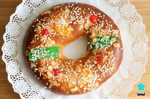 Roscon De Reyes Vegano Facil Relleno De Mazapan Receta Recetas De Comida Roscon De Reyes Roscos