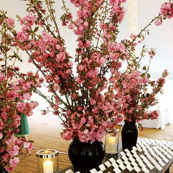 Signature Flowers For Spring Weddings Cherry Blossom Centerpiece Diy Wedding Flowers Reception Flowers