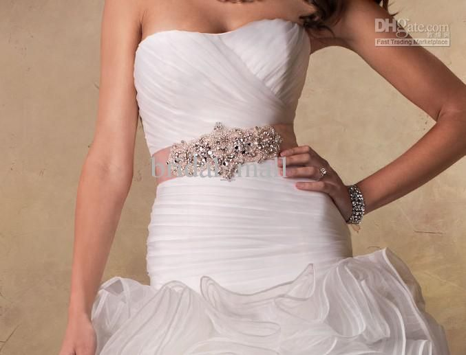 Cheap wedding dress sashes belts