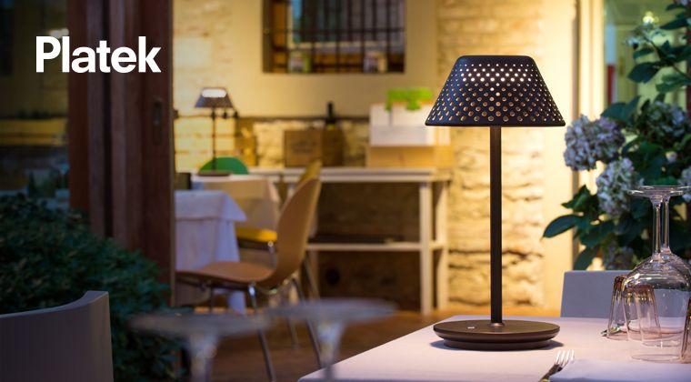 Lampada per esterno a batteria mesh by platek illuminazione