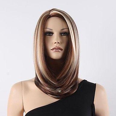 color+de+la+mezcla+medio+rizado+mujeres+pelucas+sintéticas+–+MXN+$+504.71
