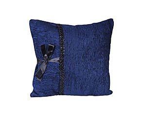 Подушка - полиэстер - синий - Д40хШ40