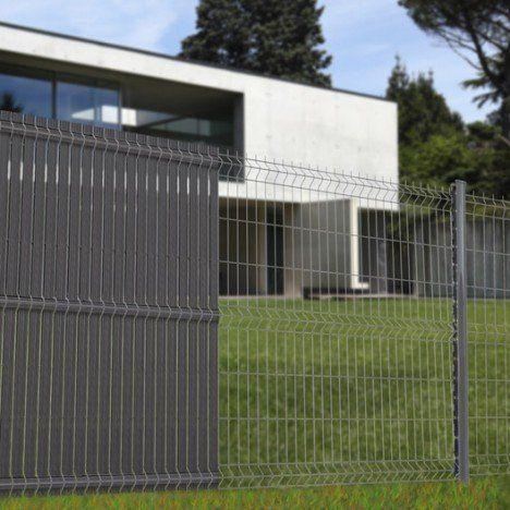 Grillage Panneau Soude Naterial Gris H 1 23 X L 2 5m Maille 200x50mm 33 Euros Cloture Maison Brise Vue Grillage Rigide