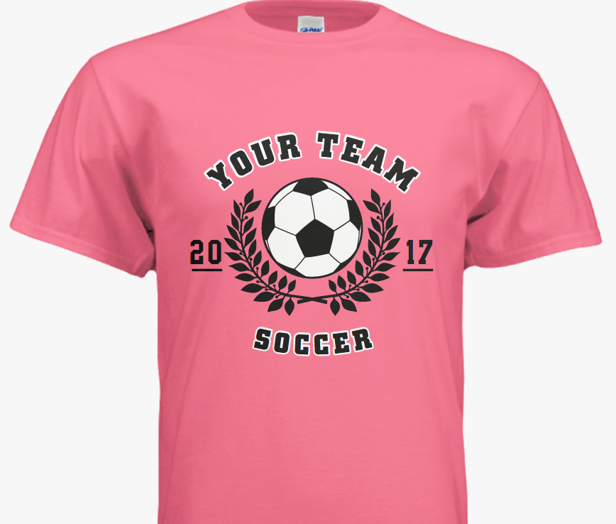 Design Your Own Soccer Team T Shirts Using One Of Our Easy To Use Design Templates Soccer Custom Shirts Team T Shirts Shirt Designs Great T Shirts