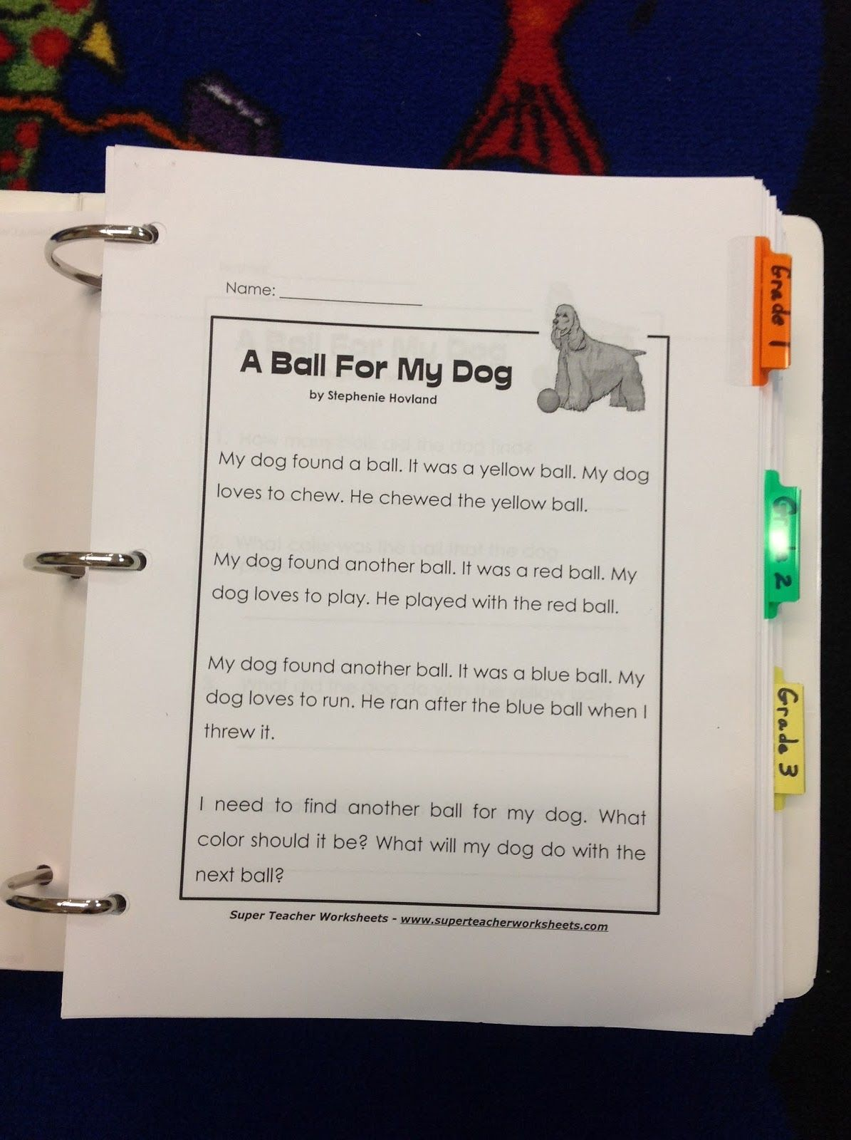 Comprehension Binder Organization For Rti