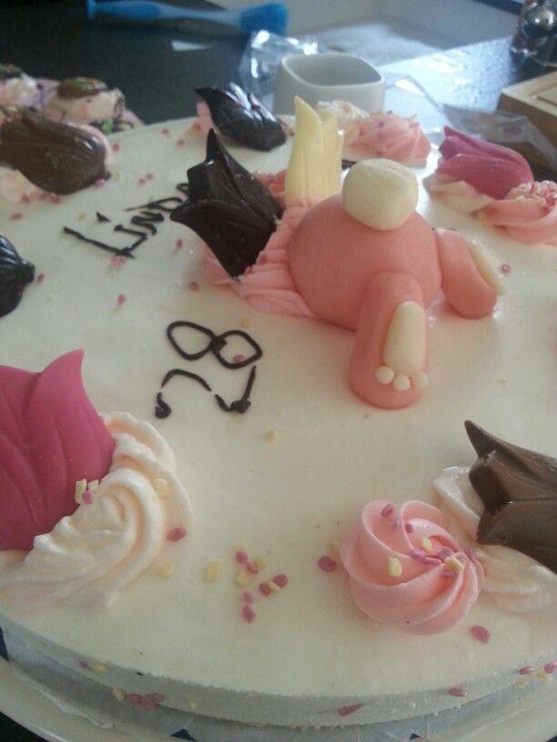 Paashaas/verjaardag's taart