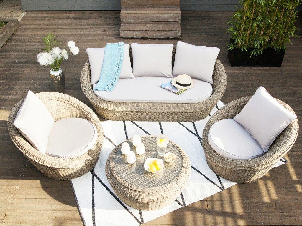 Aménager un salon de jardin chic à prix doux   Meubles jardin -terrasse