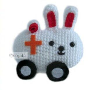 Amigurumi To Go: Crochet Bunny Ambulance Free Pattern