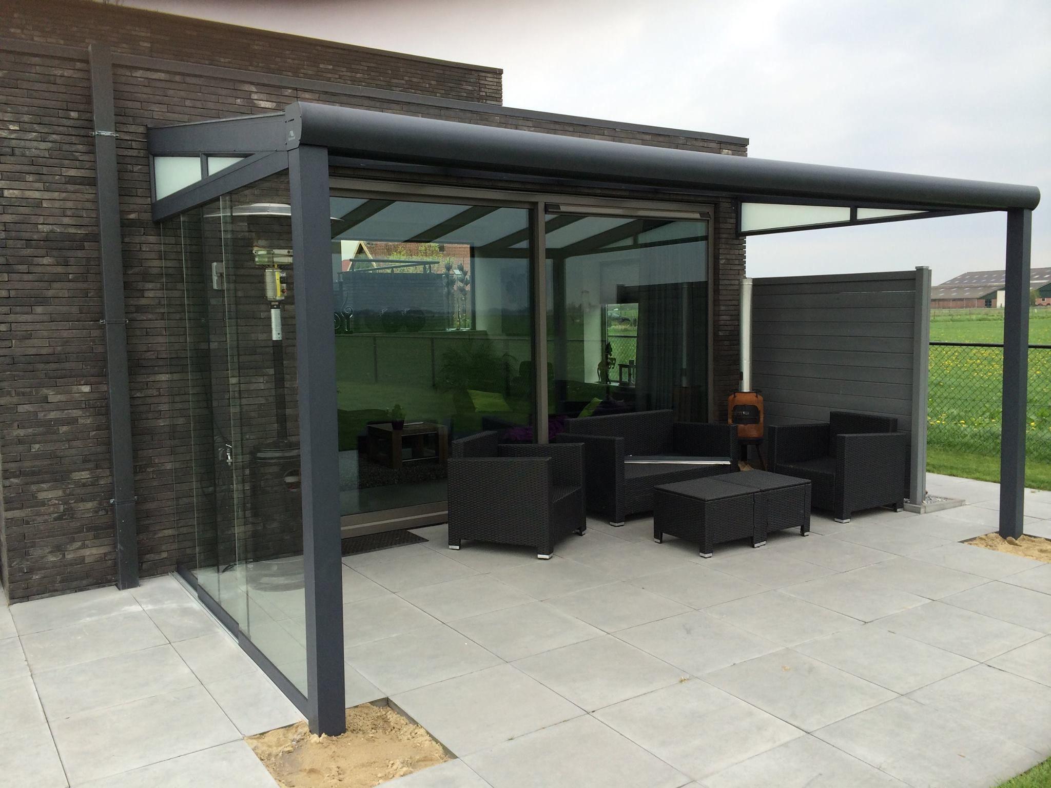 613 gumax terrasoverkapping met glazen schuifwand