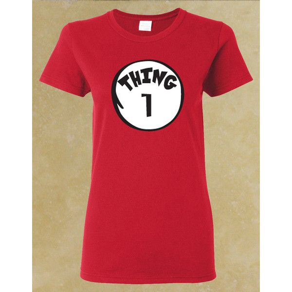 07674caf Thing 1 2 3 4 5 6 7 8 9 Women Red T Shirt. ($7.99) ❤ liked on ...