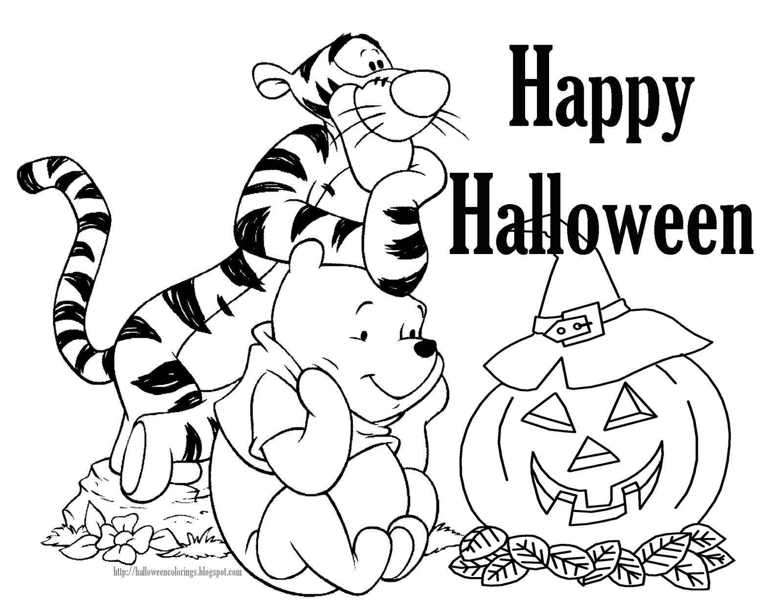 Free coloring pages winnie the pooh - Winnie The Pooh Two Halloween Colouring Pictures For You To Choose From One Is A Piglet Halloween Colouring