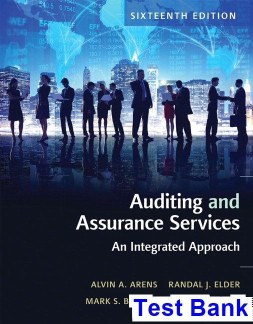 Auditing and assurance services 16th edition arens test bank auditing and assurance services 16th edition arens test bank test bank solutions manual exam bank quiz bank answer key for textbook download fandeluxe Images