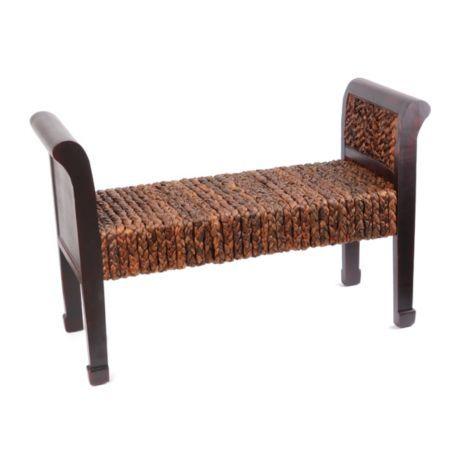 Pleasant Product Details Banana Leaf Woven Wood Bench Home Decor Creativecarmelina Interior Chair Design Creativecarmelinacom