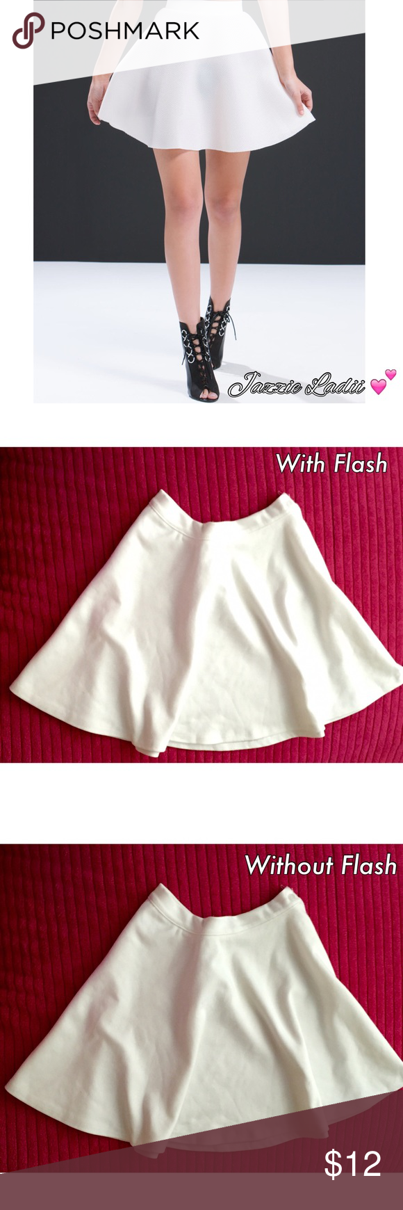 Ivory Cotton Skater Skirt • Size S 💕 Ivory Cotton Skater Skirt • Size S • Side Button Closure • Great Condition • ONE DAY SALE !!! Skirts Circle & Skater