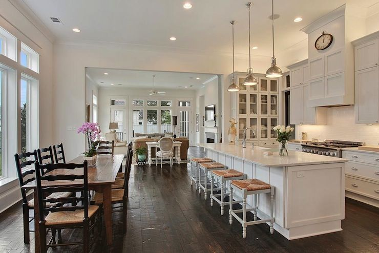 Source Troyer Builders Chic Open Kitchen Design Featuring