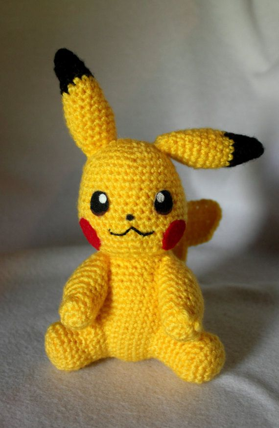 Crochet Pikachu- 8 Inch Handmade Collectible Toy- Pokemon Crochet ...